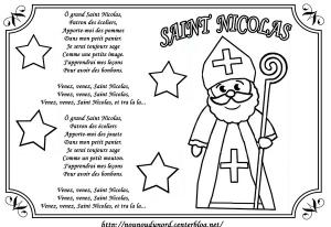 Coloriage de Saint Nicolas à imprimer pour enfants