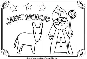 Coloriage de Saint Nicolas pour enfants
