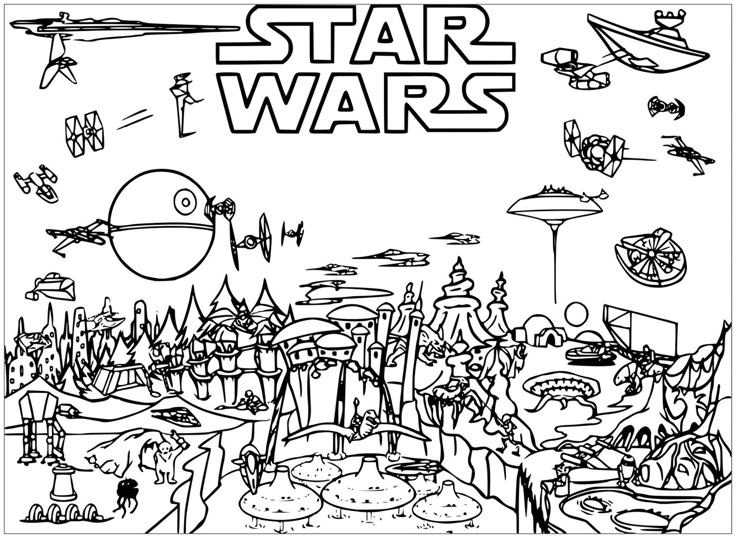 Star Wars coloring page - Coloriage Star Wars - Coloriages ...