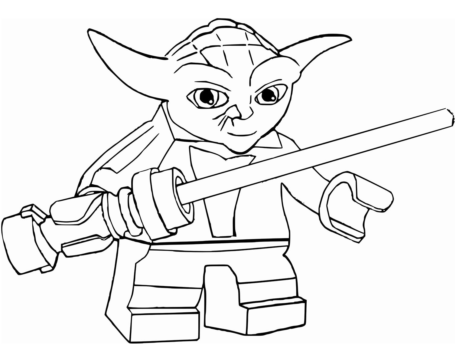 Star Wars : Yoda Lego - Coloriage Star Wars - Coloriages pour enfants