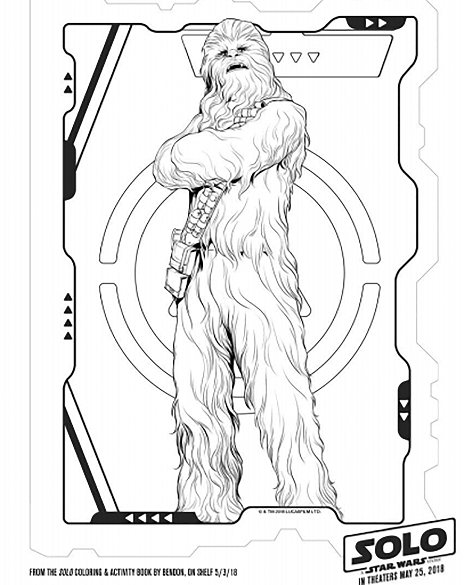 Star Wars Chewbacca Coloriage Star Wars Coloriages Pour Enfants