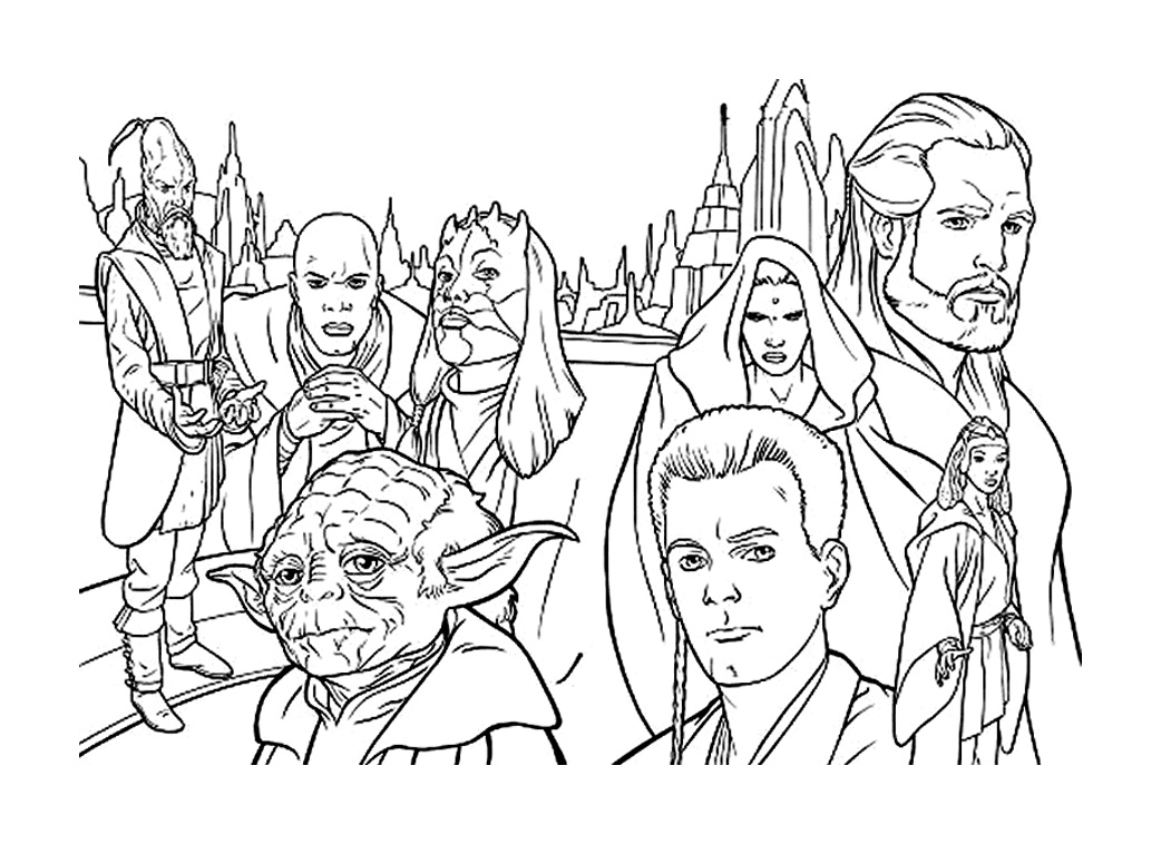 coloriage star wars 19 free to print