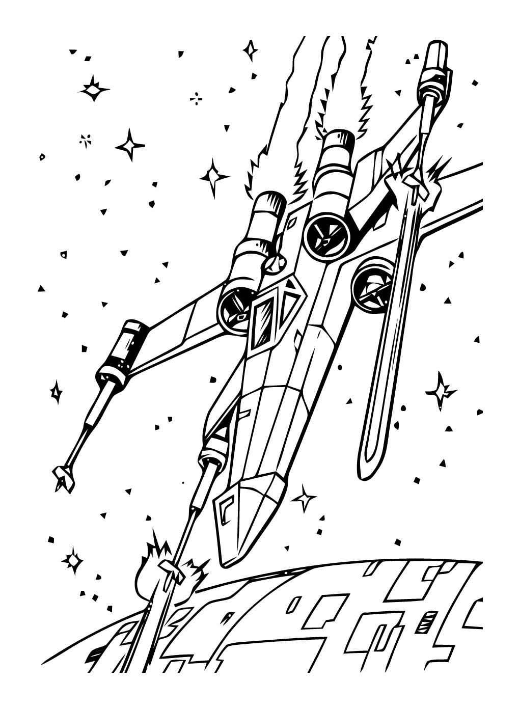 Star wars 5 coloriage star wars coloriages pour enfants - Star wars gratuit ...