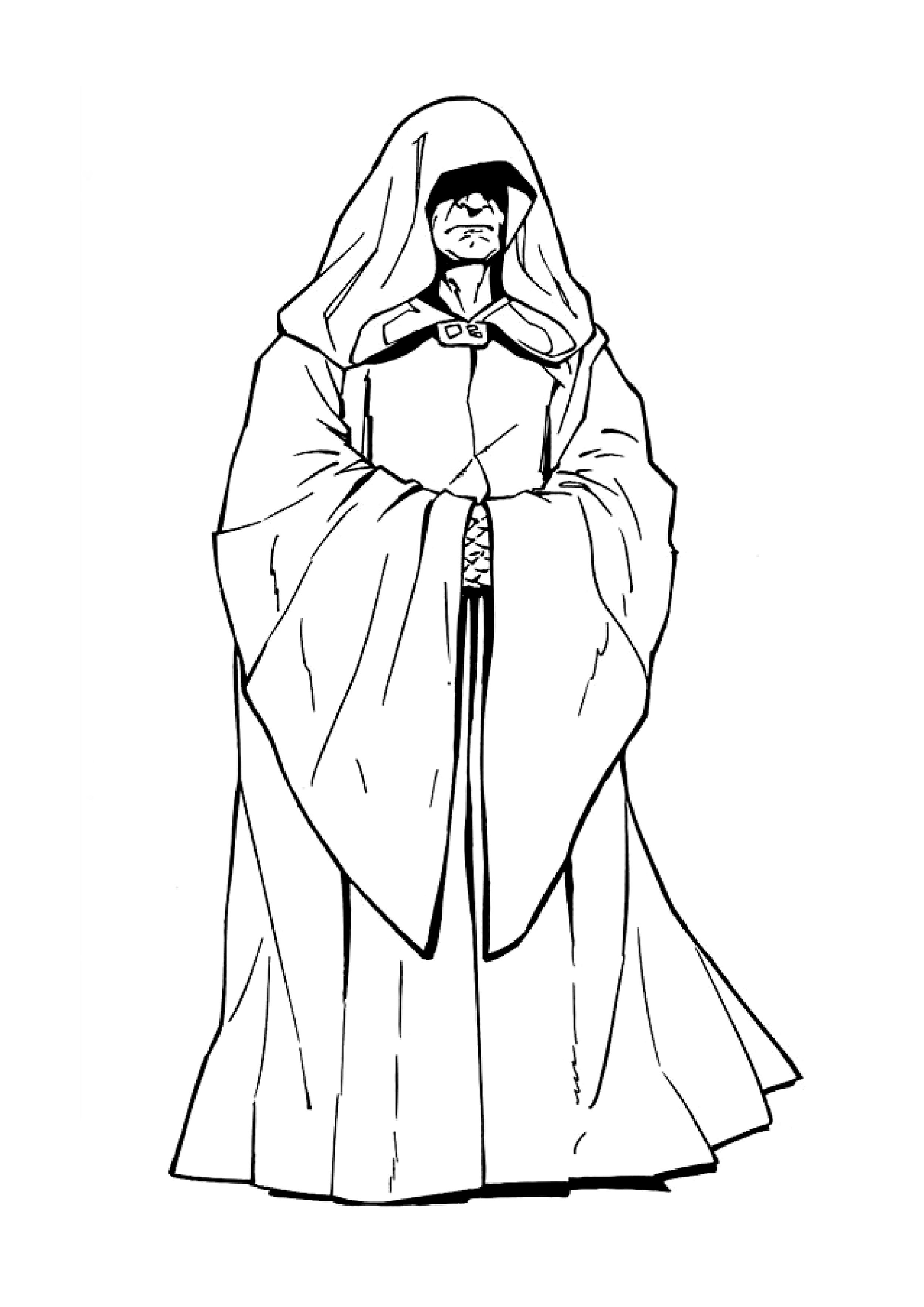 Image de l'Empereur Palpatine à imprimer et colorier
