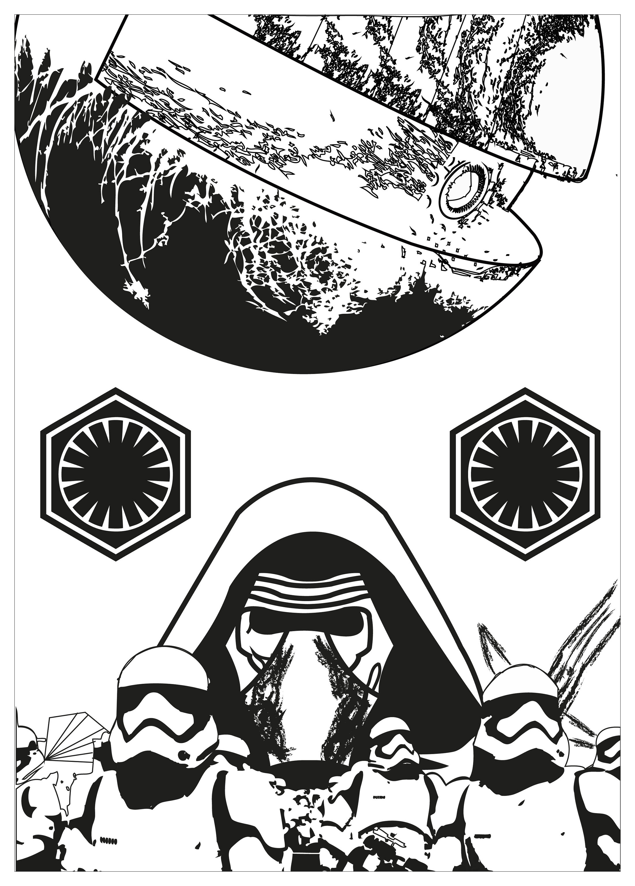 Stars wars coloriage coloriage star wars coloriages - Dessin a imprimer de star ...