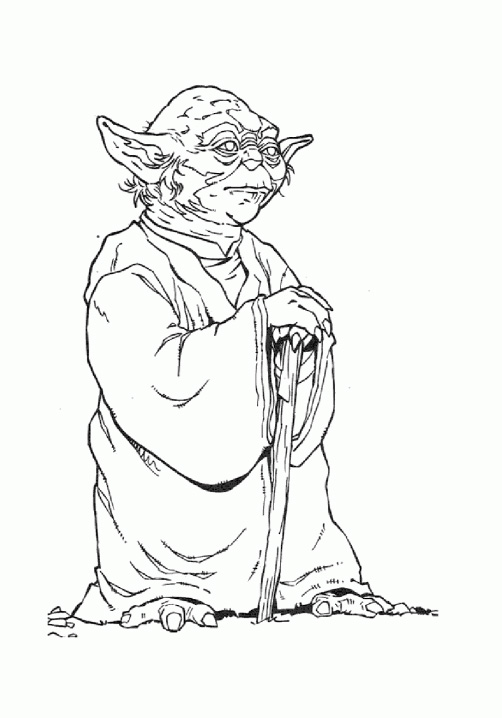 Star wars yoda 11 coloriage star wars coloriages pour - Dessin a imprimer de star ...
