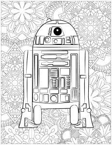 Star Wars : R2D2 et fond complexe