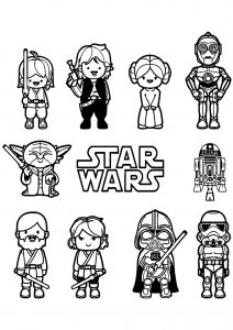 Petits personnages Star Wars