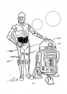 Coloriage star wars 17