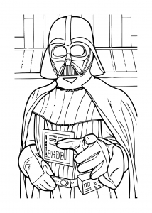 Coloriage star wars dark vador 7