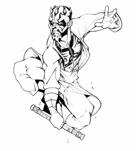 Coloriage star wars darth maul 25