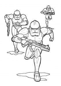 Coloriage star wars storm troopers 4