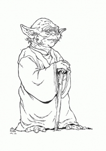 Coloriage star wars yoda 11