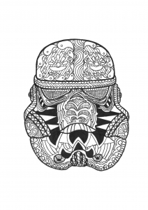 Coloriage zentangle stormtrooper par allan