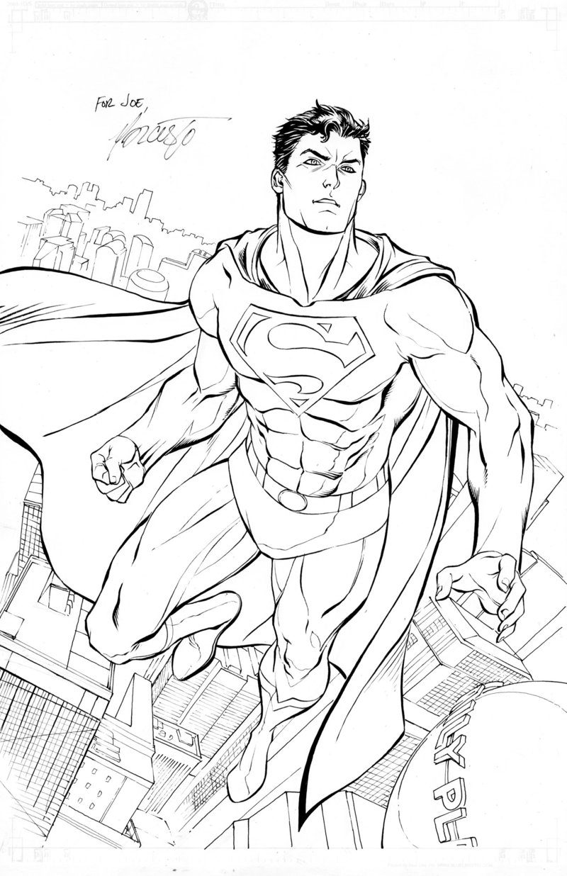 Superman 1 Coloriage Superman Coloriages Pour Enfants