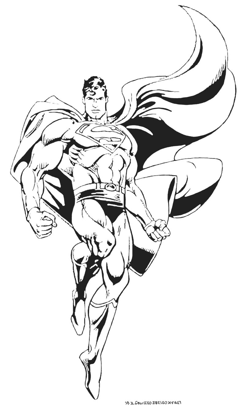 Superman 10 coloriage superman coloriages pour enfants - Coloriage dc comics ...