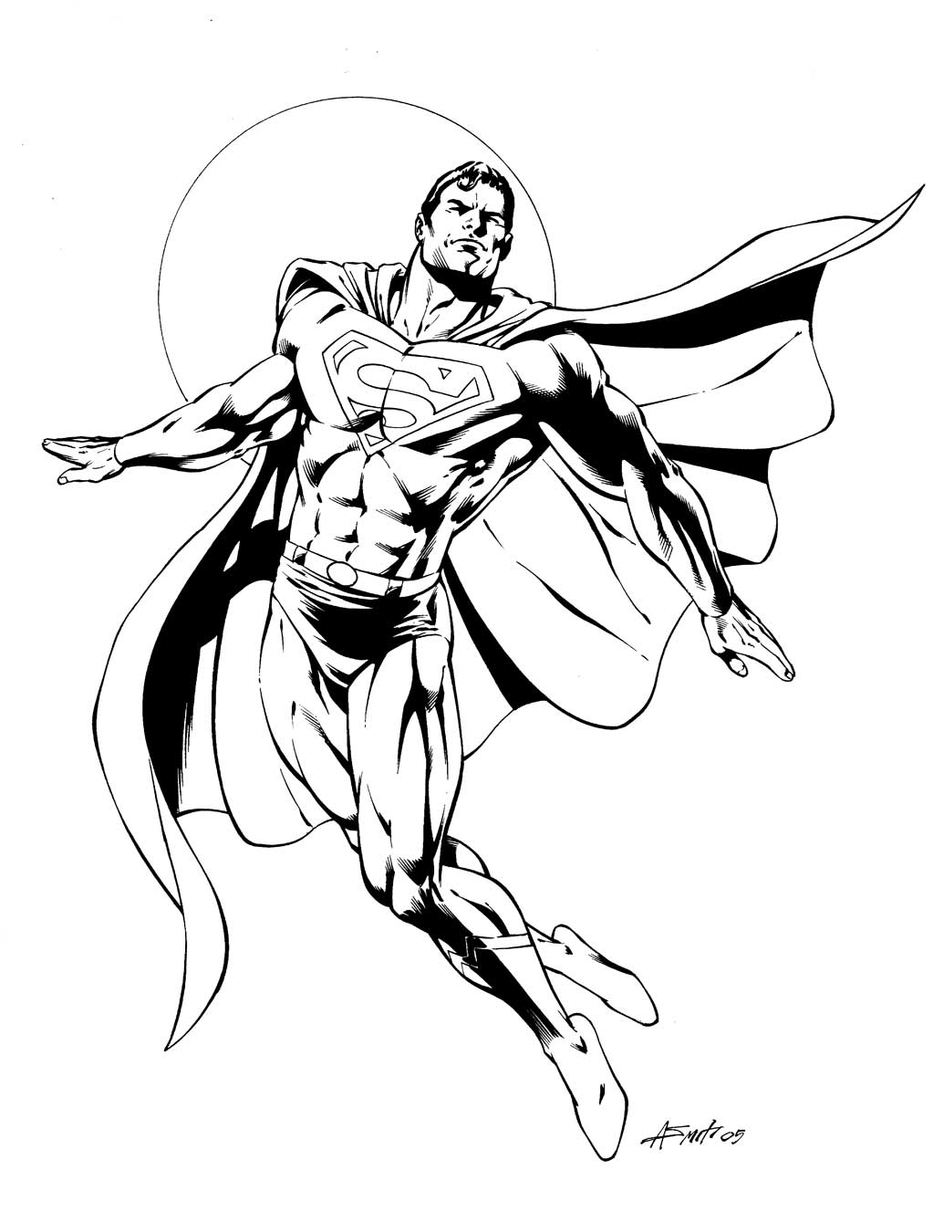 Superman 2 coloriage superman coloriages pour enfants - Coloriage dc comics ...