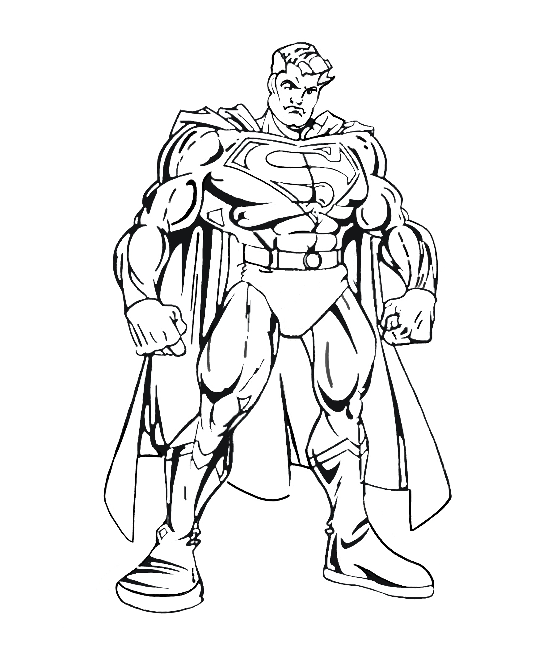 Superman 5 coloriage superman coloriages pour enfants - Image batman a colorier ...