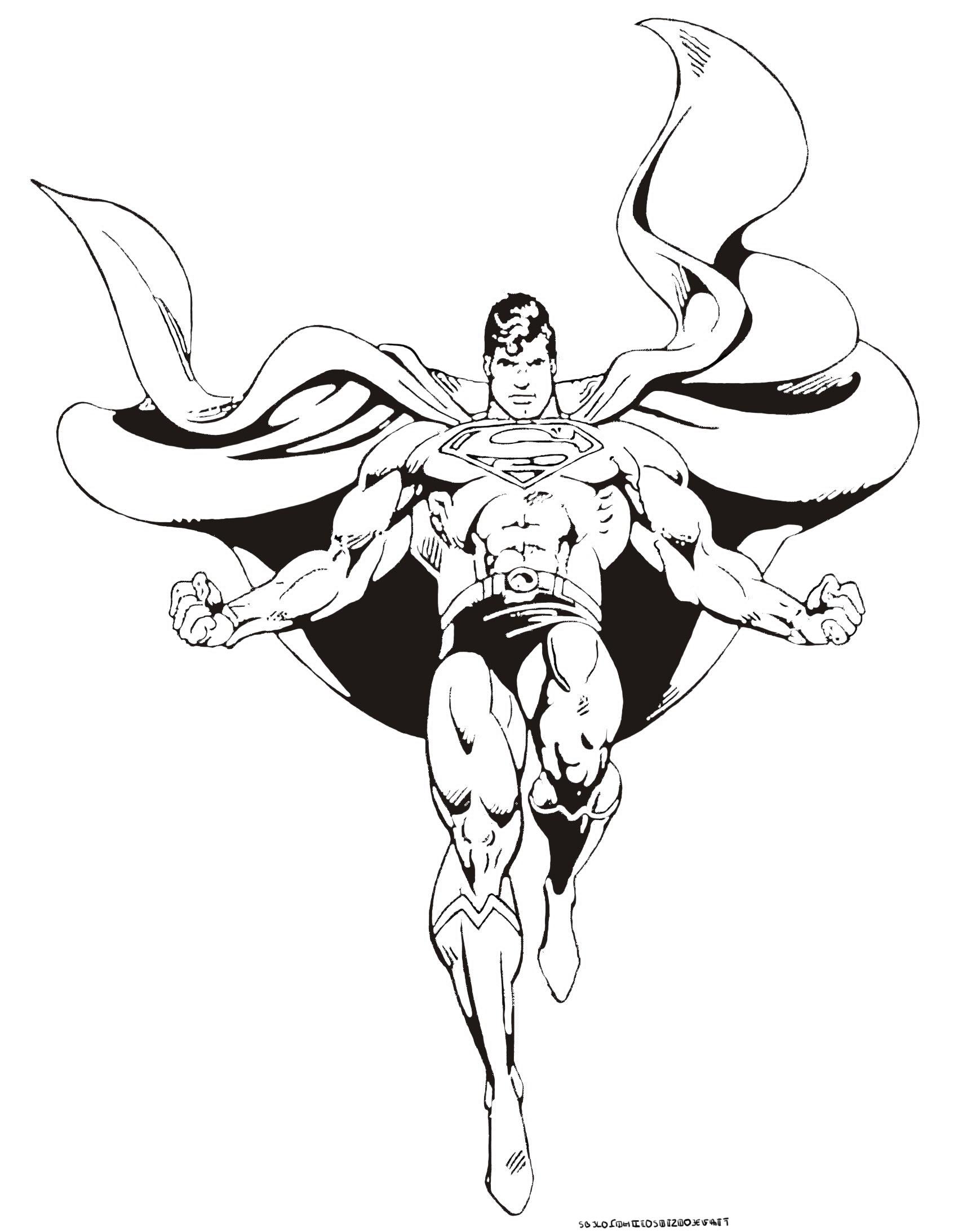 Superman 9 coloriage superman coloriages pour enfants - Dessin de superman ...