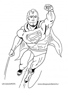 Coloriage superman 4