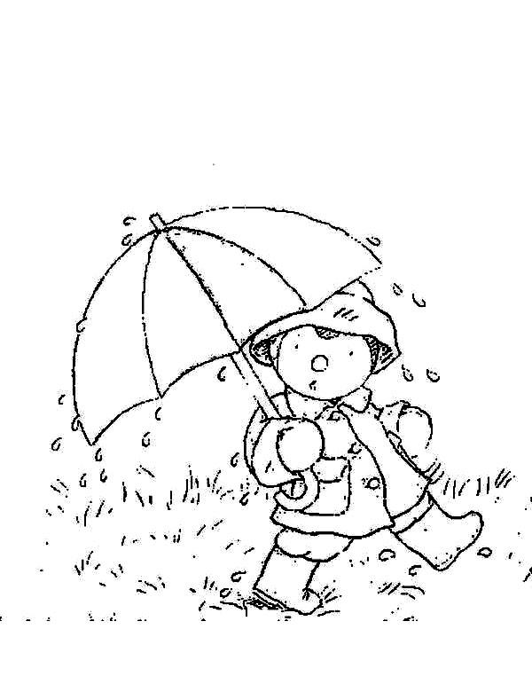 Avec un parapluie, on est bien protégé de la pluie, n'est-ce pas T'choupi ?