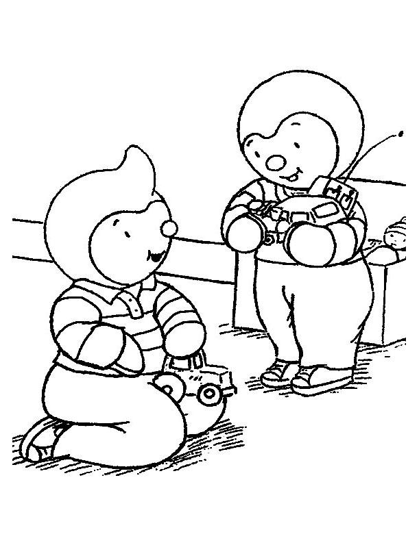 Coloriage T'choupi - Coloriages pour enfants : coloriage-tchoupi-4