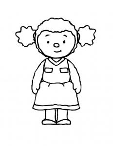 Coloriage de T'choupi pour enfants