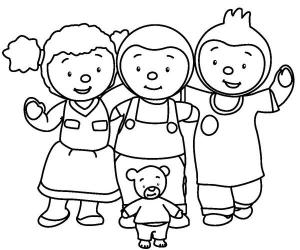Coloriage tchoupi et ses amis