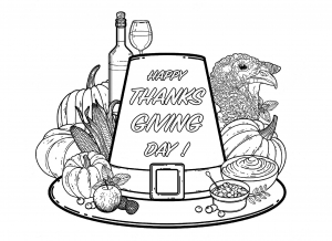 Coloriage facile thanksgiving