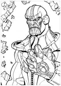 Thanos dans le style des comics