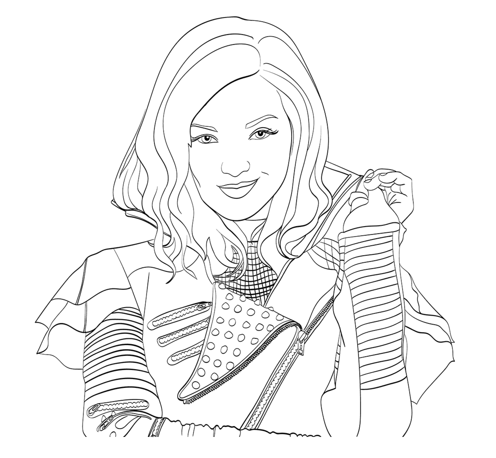 Uma Descendants 2 Coloring Pages Printable Uma Best Free