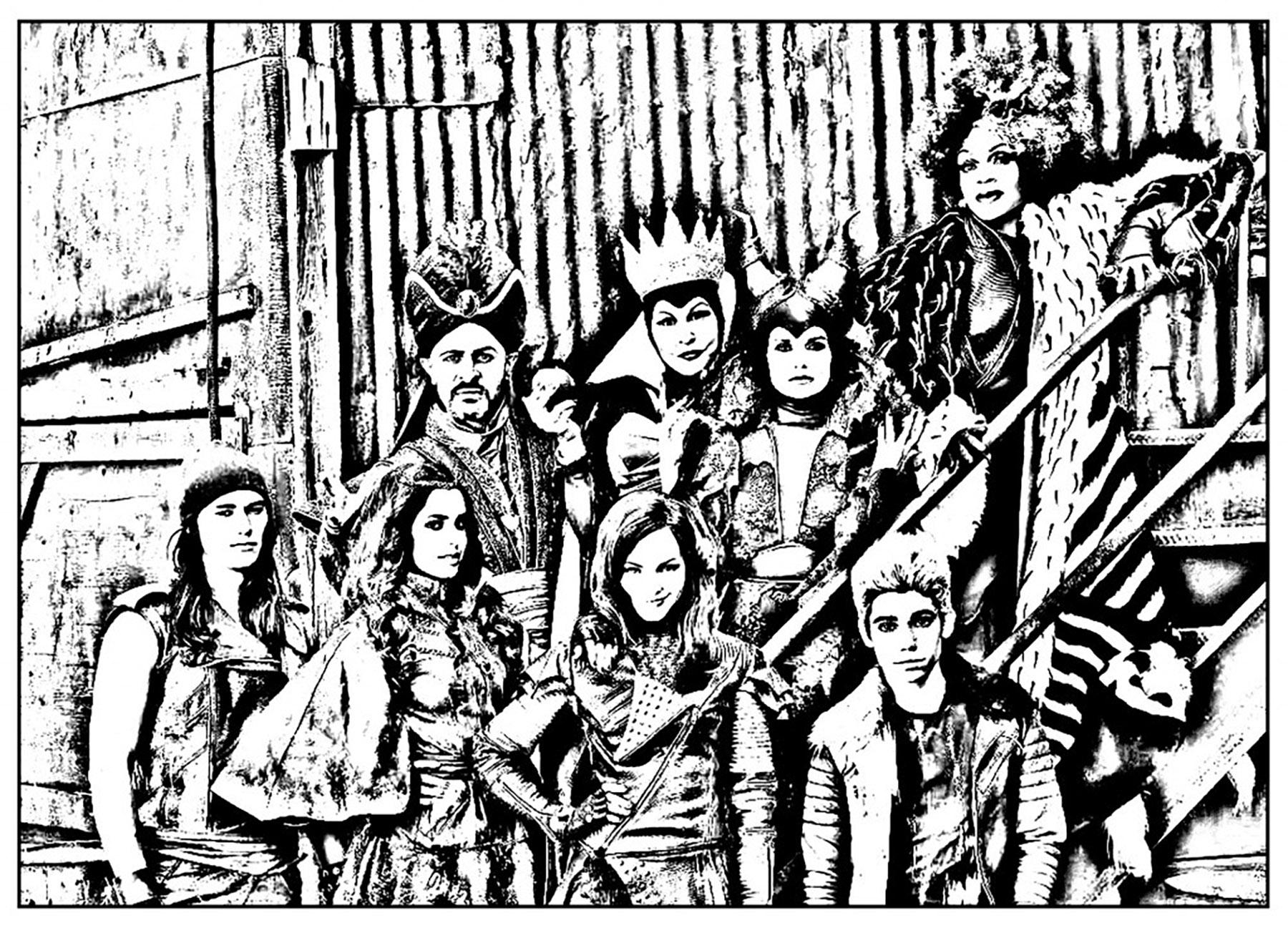 The Descendants : les maléfiques parents (méchants célèbres de Disney) et leur progéniture