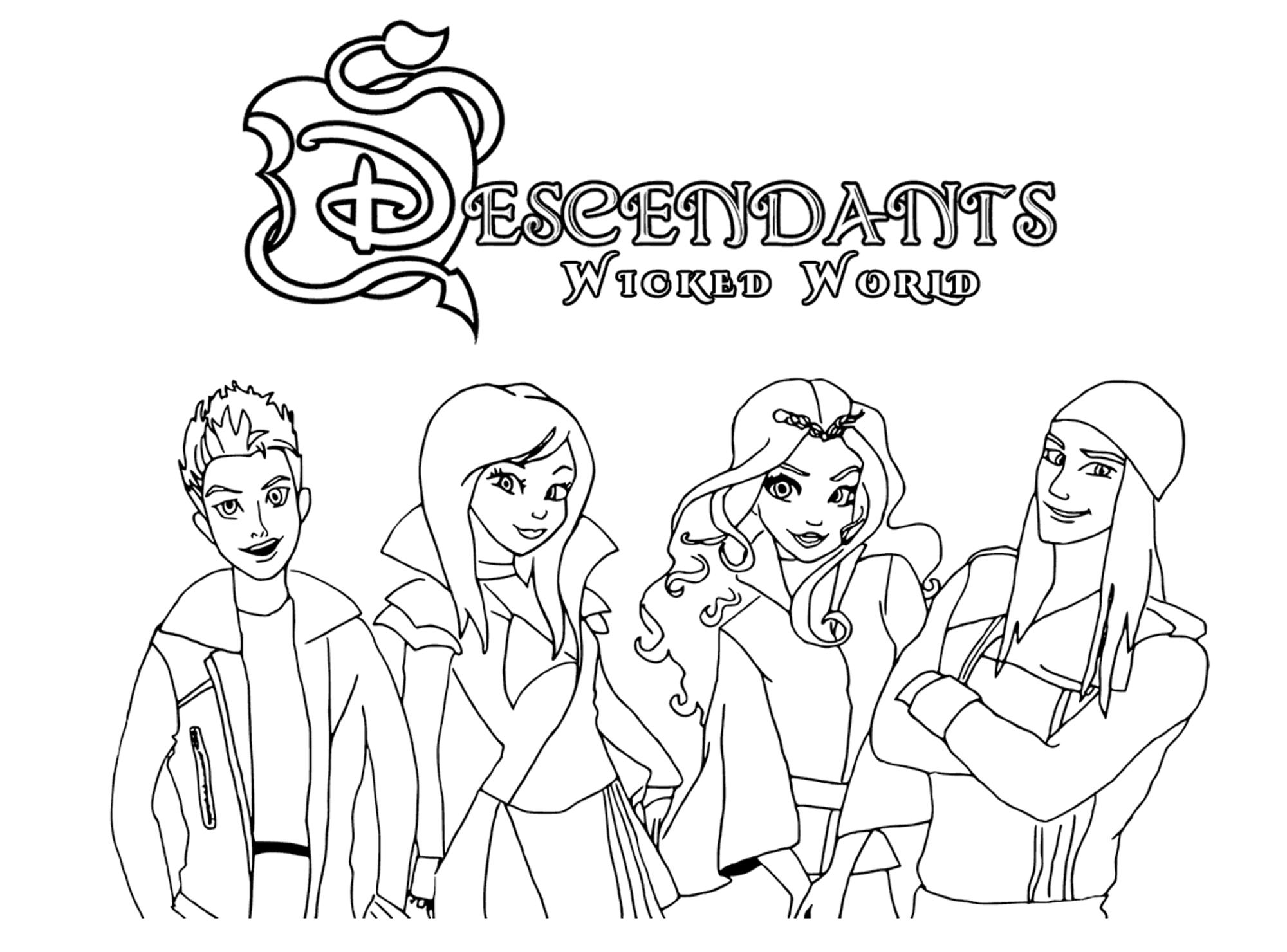 The Descendants : Personnages principaux