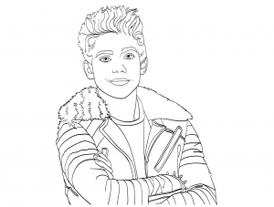 Coloriage the descendants disney carlos portrait