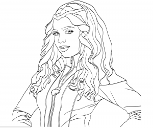 Coloriage the descendants disney evie portrait