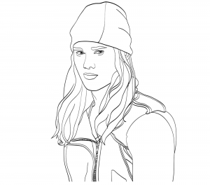 Coloriage the descendants disney jay portrait