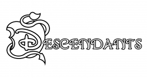 Coloriage the descendants disney logo