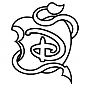 Coloriage the descendants disney mini logo