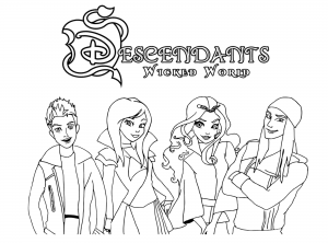Coloriage the descendants disney