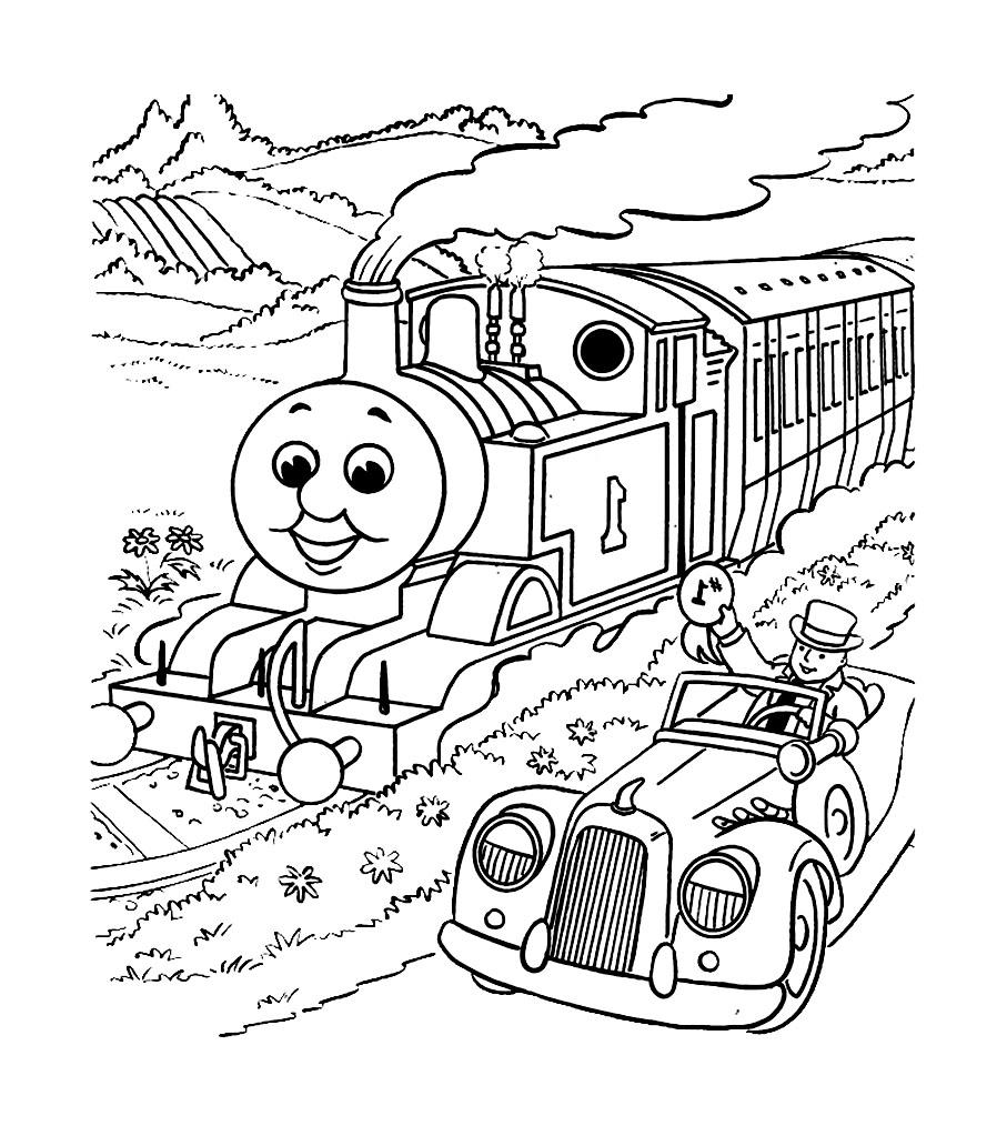 Coloriage gratuit du dessin anime robot train - Coloriage thomas ...