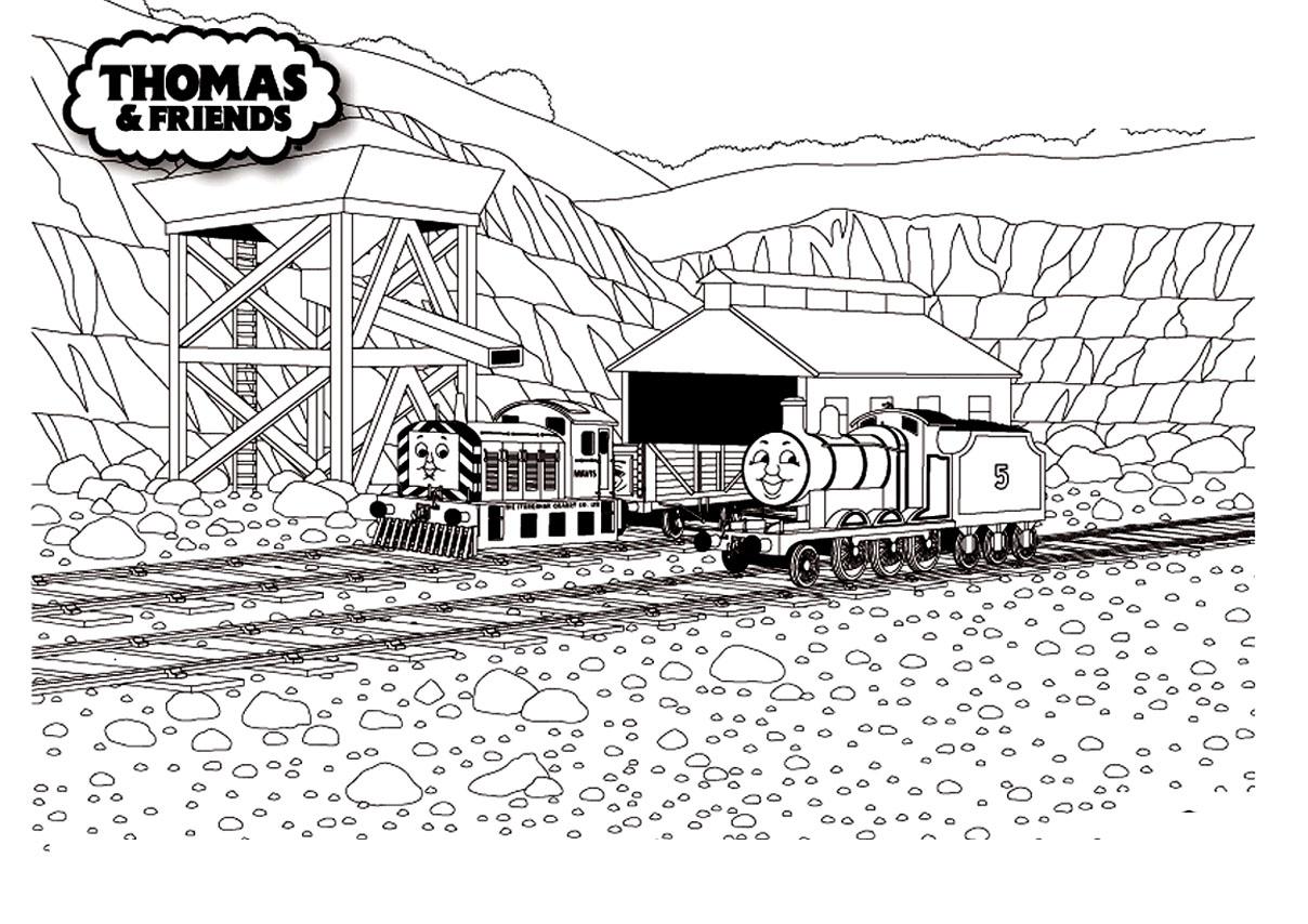Dessin coloriage du train robot - Train thomas et ses amis ...