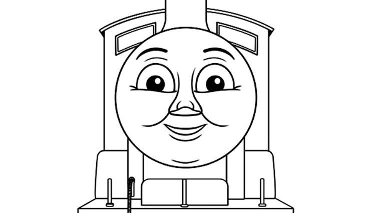 Simple coloriage Thomas et ses amis