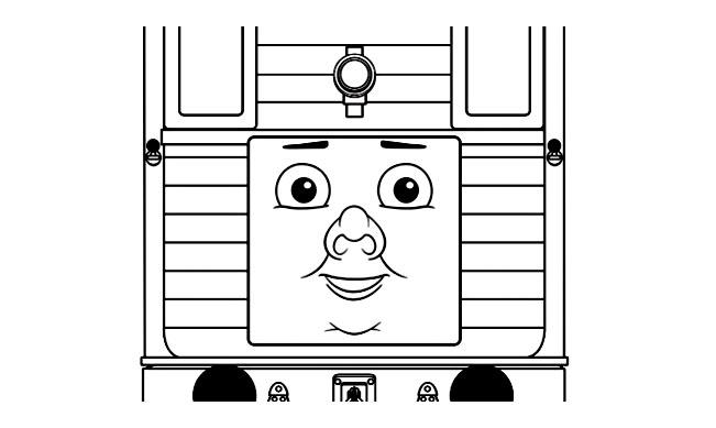 Drôle de train très carré