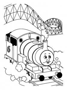 coloriage-thomas-et-ses-amis-train-1 free to print