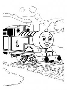 coloriage-thomas-et-ses-amis-train-10 free to print