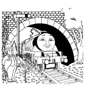 Dessin de Thomas et ses amis gratuit à imprimer et colorier