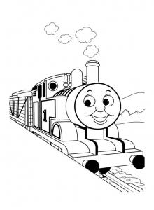 coloriage-thomas-et-ses-amis-train-15 free to print