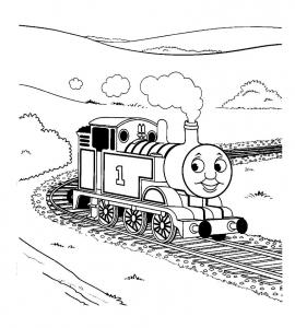 Image de Thomas et ses amis à imprimer et colorier
