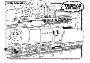 Coloriage de Thomas et ses amis à telecharger gratuitement