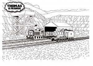 coloriage-thomas-et-ses-amis-train-20 free to print